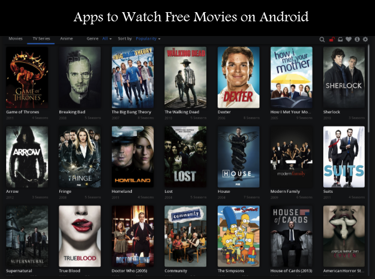 Apps to watch free movies on Android
